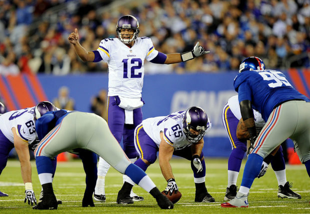 Josh Freeman i sin enda match för Vikings. (Foto: Maddie Meyer/Getty Images)