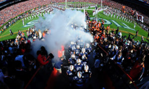 AUBURN, AL - NOVEMBER 14: Members of the Auburn Tigers take the field before the game against the Georgia Bulldogs on November 14, 2015 at Jordan Hare Stadium in Auburn, Alabama. Photo by Scott Cunningham/Getty Images)