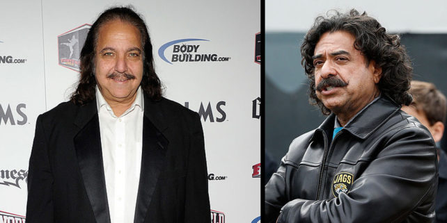 Ron Jeremy (Ethan Miller/Getty Images). Shahid Khan (Sam Greenwood/Getty Images)