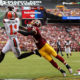 LANDOVER, MD - OCTOBER 2: Wide receiver Terrelle Pryor #11 of the Cleveland Browns scores a second quarter touchdown past cornerback Will Blackmon #41 of the Washington Redskins at FedExField on October 2, 2016 in Landover, Maryland. (Photo by Patrick Smith/Getty Images)