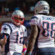 CLEVELAND, OH - OCTOBER 9: Quarterback Tom Brady #12 celebrates with tight end Martellus Bennett #88 of the New England Patriots after Bennett scored a touchdown during the first half against the Cleveland Browns at FirstEnergy Stadium on October 9, 2016 in Cleveland, Ohio. (Photo by Jason Miller/Getty Images)