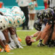 MIAMI GARDENS, FL - DECEMBER 06: the Baltimore Ravens line up against the Miami Dolphins during a game  at Sun Life Stadium on December 6, 2015 in Miami Gardens, Florida.  (Photo by Mike Ehrmann/Getty Images)