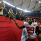 ATLANTA, GA - DECEMBER 04:  Eric Berry #29 of the Kansas City Chiefs walks off the field after their 29-28 win over the Atlanta Falcons at Georgia Dome on December 4, 2016 in Atlanta, Georgia.  Berry returned an interception from a failed two-point conversion for two points and the go-ahead score.  (Photo by Kevin C. Cox/Getty Images)