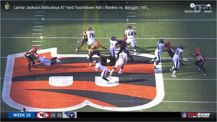 Lamar Jackson 47-yards touchdown run