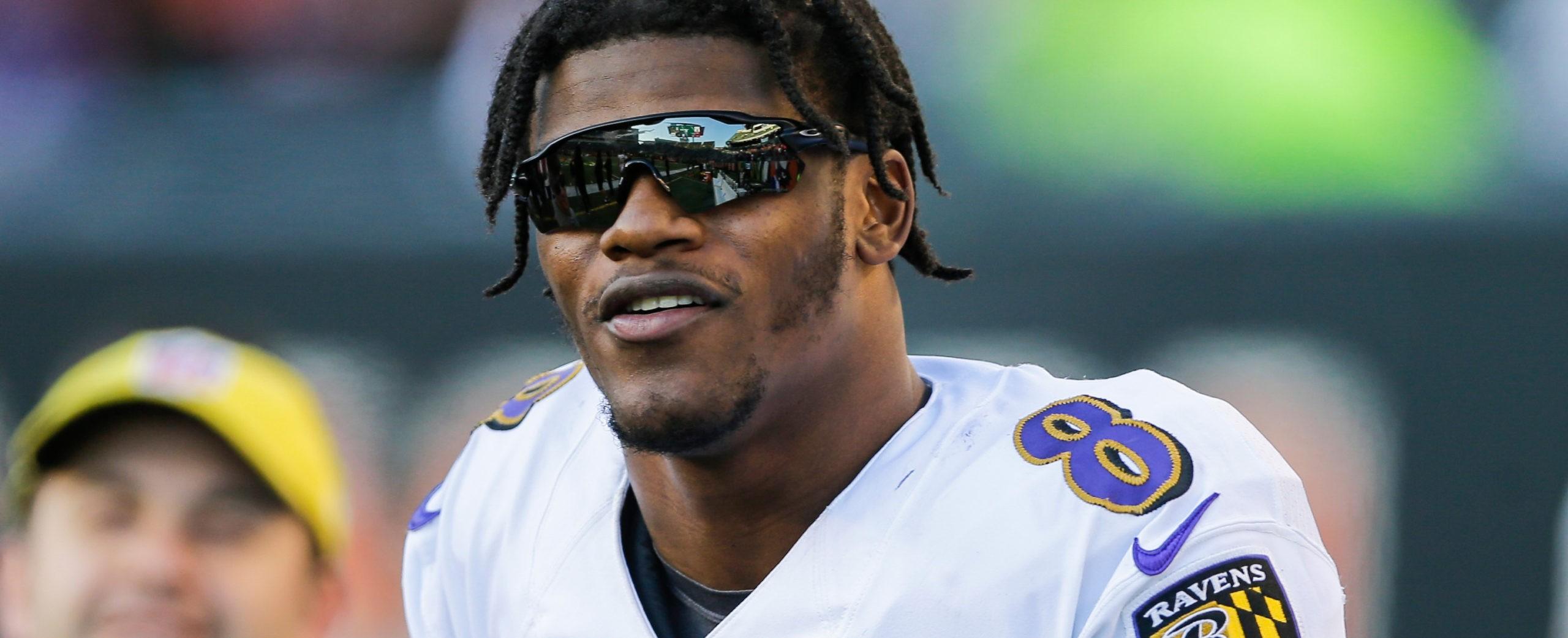 Lamar Jackson quarterback för Baltimore Ravens